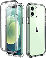 TOPSKY 手机壳适用于 iPhone Pro 6.1 英寸(约 15.5 厘米)内置屏幕保护膜全身防震硬质重型保护耐用强力保护手机外壳适用于 iPhone Pro 6.1 英寸(约 15.5 厘米)透明