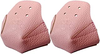 YEEFINE 溜冰鞋趾帽保护罩 人造皮革 专业滑冰脚趾保护罩 4 孔 男女皆宜 1 对
