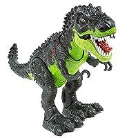 SY WonderPlay 雷克斯霸王龙带灯光和逼真声音动作公仔玩具 - 发光*,超棒的声音 - 自己行走! - *礼物男孩 3 岁以上儿童,电池供电 *