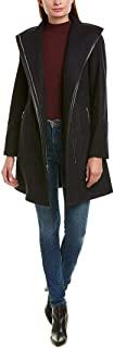T Tahari 女士卷边组合羊毛大衣