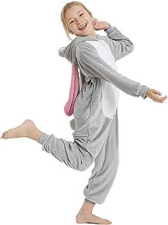 ABENCA 女童羊毛独角兽连体睡衣卡通一件式动物万圣节圣诞角色扮演服装