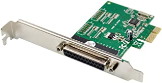 X-MEDIA 1 端口 DB25 并行 PCI Express (PCIe x1) 适配器卡 - 支持 ECP/EPP/SPP - 包括低矮支架 [XM-PEX-1P]