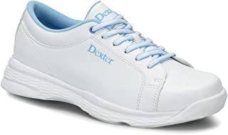 Dexter 女式 Raquel V 保龄球鞋宽 宽 - 白色/蓝色