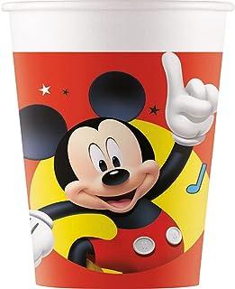 Procos 93473 – 派对杯 Playful Mickey,*大容量 200 毫升,8 件,一次性杯子,一次性杯子,儿童生日,派对餐具,FSC