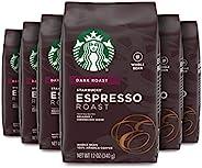 Starbucks 星巴克 濃咖啡 碳烤全豆咖啡, 12-Ounce 每包(340g) ( 6包)