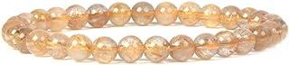 Justinstones 宝石半宝石 6mm 圆珠弹力手链 16.51 cm