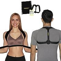 Posture Corrector 女士、男士和青少年的护踝 – 可调节、舒适和有效的锁骨支撑,上背姿支撑 – Firbee 赠送拉绳背包