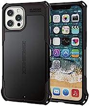 Elecom 宜丽客 iPhone 12 Pro Max 手机壳 混合动力 ZEROSHOCK 耐冲击 标准 黑色 PM-A20CZEROBK