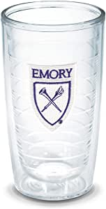Tervis 1006728 Emory University Emblem Individual Tumbler, 16 oz, Clear