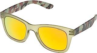 Police S1944 Exchange 1 旅行者太阳镜 Semi Matt Transparent Green & Camouflage Frame/Gold Mirror Lens