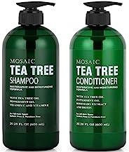 Tea Tree 洗发水和护发素套装,适用于*生长,女士和男士*脱落*,*增稠产品,女士和男士,不含防腐剂和硫酸盐洗发水 20.2 液体盎司(约50.9毫升)
