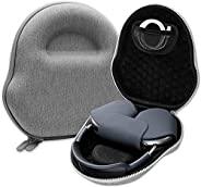 硬质旅行手提箱适合 AirPods Max 耳机,时尚硬壳旅行携带保护盒,带耳机和配件存储空间(灰色)