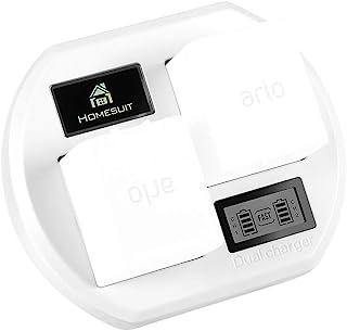 Homesuit 快速充电 Arlo 电池充电器站,双充电器支架带 LCD 显示屏兼容 Arlo Pro/Pro 2/Arlo *灯 VMA4410 / Go 相机