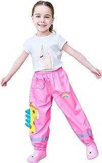xinBMPL 儿童轻质反光雨裤防水幼儿雨衣适合男孩和女孩 2-12 岁