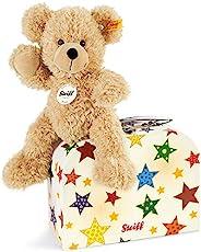Steiff Fynn 泰迪熊在行李箱中 - 23 厘米 - 兒童毛絨玩具 - 柔軟可洗 - 米色(111730)