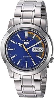 Seiko Men's SNKK27 Seiko 5 男士不锈钢自动手表,Blue/Silver,Norme pour ho