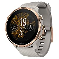 SUUNTO 7 GPS 运动智能手表,Google Wear OS Sandstone/Rose Gold