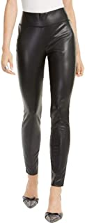 I-N-C Inc 女士小号人造皮革紧身裤,深黑色,尺码 2P