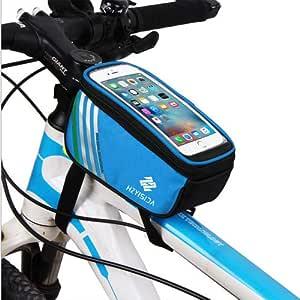 HzYisida TM 自行车前管框架包,尼龙运动自行车车把支架保护套适用于 iPhone 11/11 Pro Max/Samsung Galaxy Note 10 / A20 / A50 / Motorola One Zoom/Google Pixel 3a