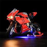 Technic Ducati Panigale V4 R 灯套装 LED 照明套件 兼容 LEGO 42107 积木模型,仅灯光无积木