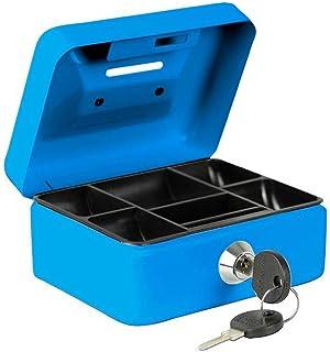 BURG-WÄCHTER 钱箱 MONEY 5012 钢板 蓝色 包括 2 把钥匙和硬钱箱 带投票槽