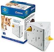 "PetSafe 自动奶酪猫玩具 白色/黄色 5"" x 5.75&qu"