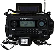 Kaito Voyager Pro KA600 数码太阳能超能电池,发条,Dynamo Cranking AM/FM/LW/SW & NOAA 天气应急收音机,带手电筒,阅读灯提醒,智能手机充电器和 RDS 实时
