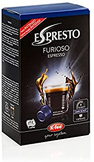 ESPRESTO Furioso Espresso Kaffeekapseln Stärke 8, K-fee System, 6er Pack (6x124 g)