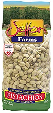Setton Farms Premium Pistachios, Dry Roasted with Sea Salt, 3lb Bag (48 Ounce )