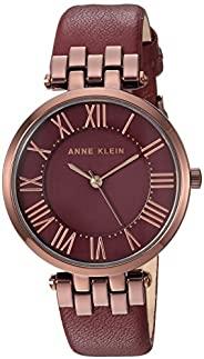 Anne Klein 女士皮革表带手表