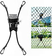 2 合 1 动作相机链式连接栅栏支架适用于 Gopro 动作相机和手机,理想的后挡相机支架,用于录制棒球、垒球和网球比赛