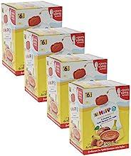 HiPP 喜宝 婴儿水果流食 适用于6月以上婴儿,草莓/燕麦/苹果/香蕉味,纯Bio水果/无添加糖,4盒/每盒4袋/每袋90g(挤压式软袋)