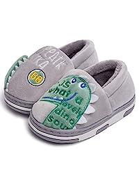Zwirelz 可爱恐龙拖鞋儿童/幼儿婴儿卡通冬季保暖家居拖鞋