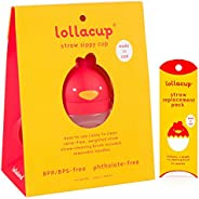 Lollaland Lollacup - 婴儿/幼儿带吸管杯 Red Cup with Straw Pack