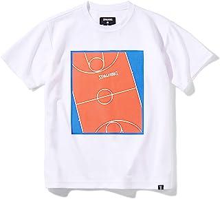 SPALDING 斯伯丁 篮球 青少年T恤 游戏场 平滑干燥 白色 150厘米 篮球