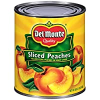Del Monte Canned Yellow Cling Peach Halves in Heavy Syrup, 29 Ounce (Pack of 6)
