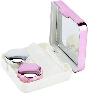 5 色迷你盒容器隐形眼镜支架便携式迷你可爱隐形眼镜旅行套件适用于家庭和旅行(02# 玫瑰红)