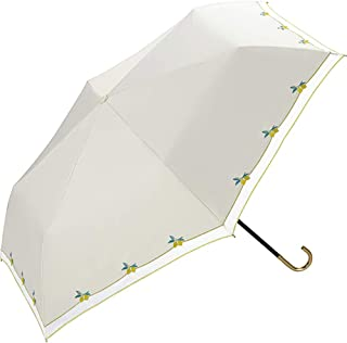 World Party(Wpc.)遮阳伞 折叠伞 米白色 50厘米 遮光柠檬刺绣mini 801-3244OF