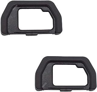 EP-15 目镜取景器眼罩适用于 Olympus 奥林巴斯 OM-D E-M10 Mark II III / E-M5 Mark II 银色/黑色数码相机(2 件装),ULBTER 取景器眼罩罩 EM5 EM10 MarkII MarkIII