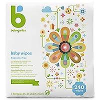 BabyGanics 嬰兒濕巾 Three 80-Count Packs 240 Count