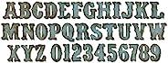 sizzix 658772 6 x 13.75 英寸的 Bigz Die,X-大号,复古市场字母