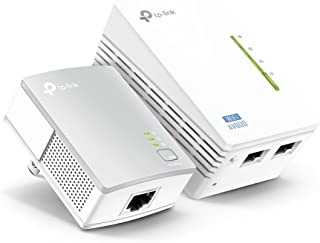 TP-Link AV600 Powerline WiFi 扩展器 – 电力线适配器,带 WiFi,WiFi 增强器,即插即用,节能,以太网供电,扩展有线和 WiFi 连接(TL-WPA4220 KIT)