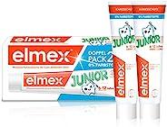 Elmex JUNIOR Zahnpasta, 6-12 Jahre, 1er Doppelpack ( 2 X 75 ml) 新老包装更替发货