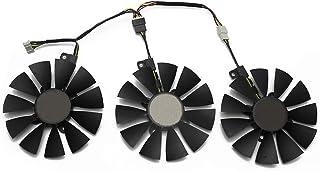 87 毫米 T129215SU 4 针冷却风扇适用于 ASUS 华硕 GTX 980 Ti R9 390X 390 GTX 1060 1080 1070 1070Ti RX 480 580 显卡散热风扇 (ABC)