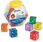 Learning Resources 记数玩具 骰子中的大型骰子 12个装 LER7699