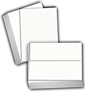 Hamilco 白色卡片纸 - 11.4 厘米 X 15.9 厘米 A6 空白索引闪存笔记和明信片 - 80 磅打印机卡片(100 张卡片带信封)