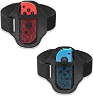 [2 件装] 适用于 Nintendo Switch Ring Fit Adventure,FANPL 可调节弹性腿带适用于 Switch Joy-con,适合成人或儿童
