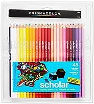 Prismacolor Scholar 油性彩铅,48支装