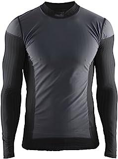 Craft 男士 绿标贴身层 运动内衣 X绿2.0(防风版) 圆领长袖上衣 适合高强度运动 温度-5°C到10°C 跑步、骑行、滑雪、多运动 1904505-9999