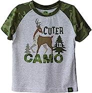 John Deere 幼儿男孩 Cuter T 恤,麻灰色,4T